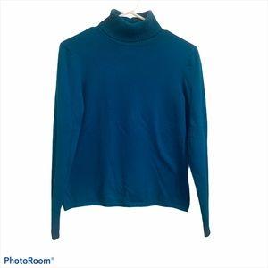 Talbots Petite Turquoise Turtleneck Sweater Sz P